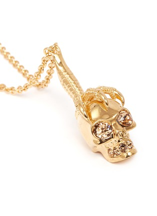Detail View - Click To Enlarge - Alexander McQueen - Claw skull necklace