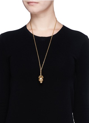 Figure View - Click To Enlarge - Alexander McQueen - Claw skull necklace