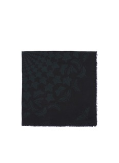 ALEXANDER MCQUEEN Ivy and moth print modal-silk scarf