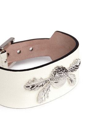 Detail View - Click To Enlarge - Alexander McQueen - Acorn leather bracelet