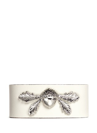 Main View - Click To Enlarge - Alexander McQueen - Acorn leather bracelet