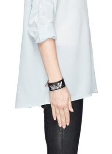 ALEXANDER MCQUEENIvy leaf leather bracelet