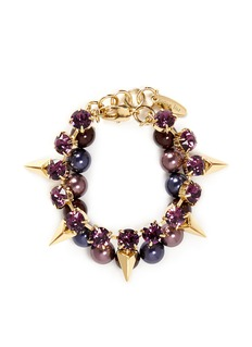 JOOMI LIMArrowhead spike crystal faux pearl bracelet