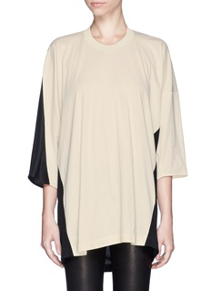3.1 PHILLIP LIMColourblock silk blend T-shirt