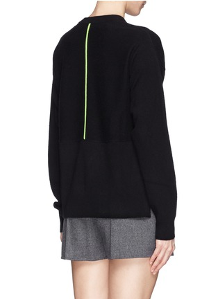 Back View - Click To Enlarge - T By Alexander Wang - High-low hem sweater