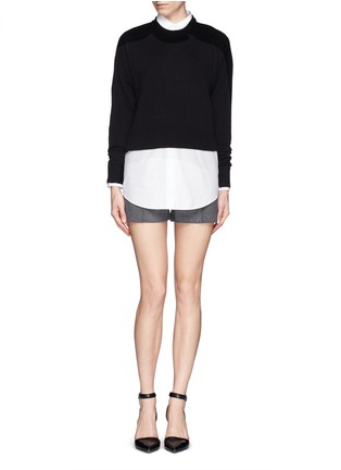 Figure View - Click To Enlarge - T By Alexander Wang - High-low hem sweater