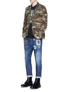 Dsquared2 Glam Head' logo badge skinny jeans