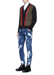 Dsquared2 'Sexy twist' bleached slim fit jeans