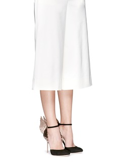 Sophia Webster 'Evangeline' 3D angel wing appliqué suede pumps