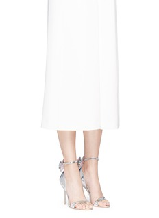 Sophia WebsterMaya' crystal 3D bow mirror leather sandals