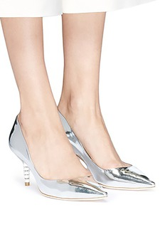 Sophia Webster 'Coco' crystal pavé bead heel mirror leather pumps