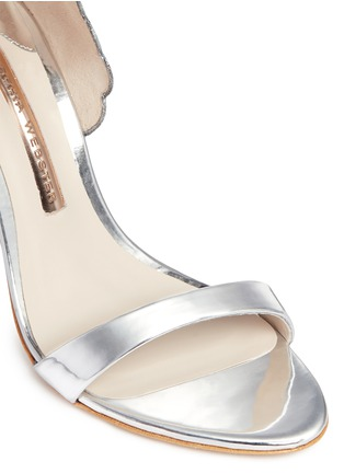 Detail View - Click To Enlarge - Sophia Webster - 'Evangeline' 3D glitter angel wing mirror leather sandals