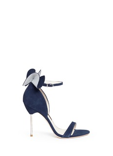 Sophia Webster Maya' glitter 3D bow suede sandals