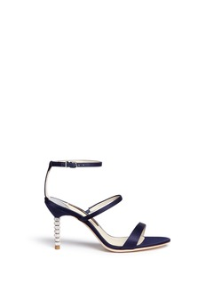 Sophia Webster'Rosalind' crystal pavé bead heel satin sandals