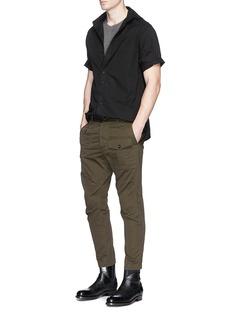 1.61'B.G.' cotton twill shirt