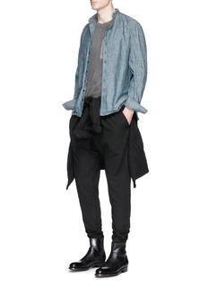 1.61'A.S.' cotton-linen jogging pants