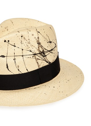Detail View - Click To Enlarge - Sensi Studio - Paint splatter toquilla straw panama hat