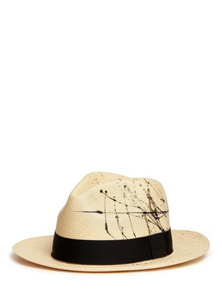 Figure View - Click To Enlarge - Sensi Studio - Paint splatter toquilla straw panama hat
