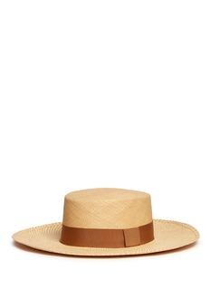 Sensi StudioToquilla straw boater hat