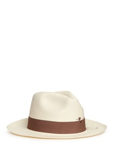 Sensi StudioPaint splatter toquilla straw panama hat