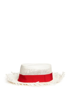 Sensi Studio 'Dumont Calado' frayed brim perforated straw hat