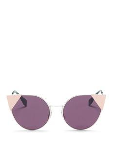 Fendi'Lei' flat metal cat eye sunglasses