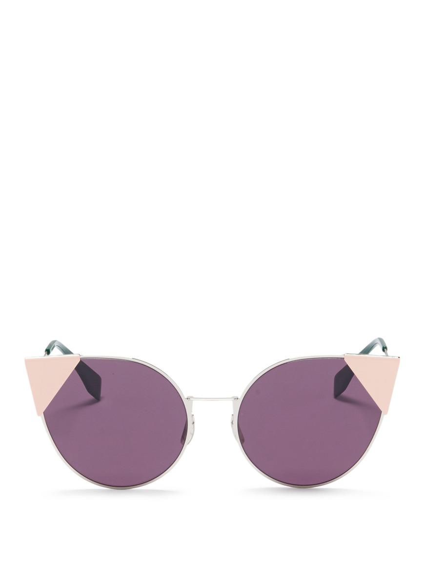 fendi female lei flat metal cat eye sunglasses