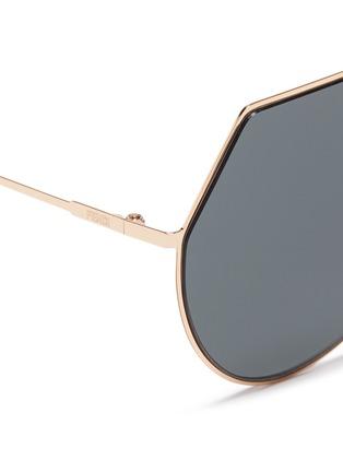 Detail View - Click To Enlarge - Fendi - Metal flat aviator sunglasses