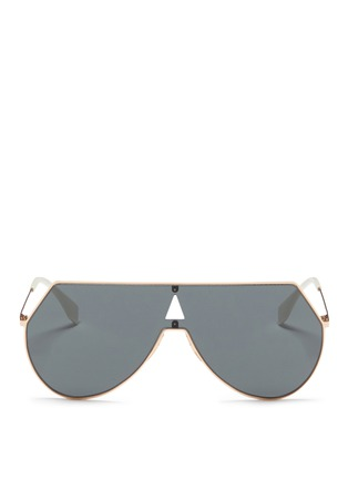Main View - Click To Enlarge - Fendi - Metal flat aviator sunglasses