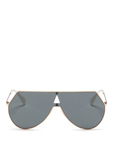 FendiMetal flat aviator sunglasses