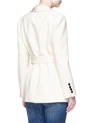 Back View - Click To Enlarge - Blazé Milano - 'Midnight Smoking Resolute' belted wool blazer