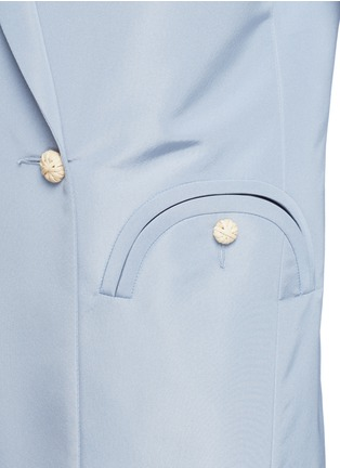 Detail View - Click To Enlarge - Blazé Milano - 'Everyday Shamrock Sky' bamboo button silk blazer