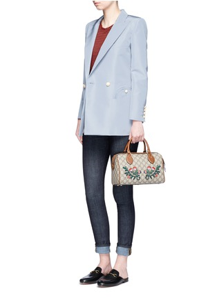 Figure View - Click To Enlarge - Blazé Milano - 'Everyday Shamrock Sky' bamboo button silk blazer