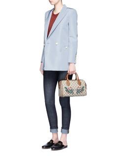 Blazé Milano'Everyday Shamrock Sky' bamboo button silk blazer