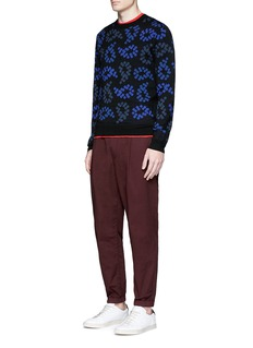 PS by Paul Smith Dot paisley intarsia wool sweater