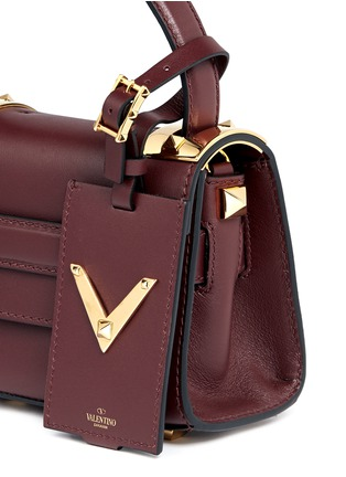 Detail View - Click To Enlarge - Valentino - 'My Rockstud' mini top handle leather bag