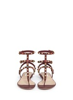 'Rockstud Rolling' cabochon caged leather sandals