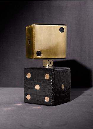 - L'OBJET - 鳄鱼压纹镀24k金色子瓷盒
