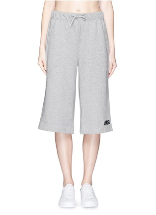 Main View - Click To Enlarge - Lndr - 'Street' embroidered logo cotton French terry shorts