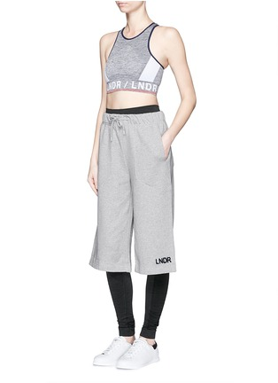 Figure View - Click To Enlarge - Lndr - 'Street' embroidered logo cotton French terry shorts