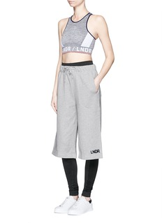 Lndr'Street' embroidered logo cotton French terry shorts