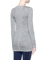 'Stretch' circular knit top