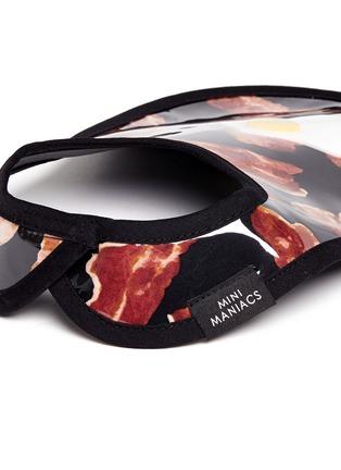 Detail View - Click To Enlarge - Mini Maniacs - 'Makin' Bacon' fried egg bib