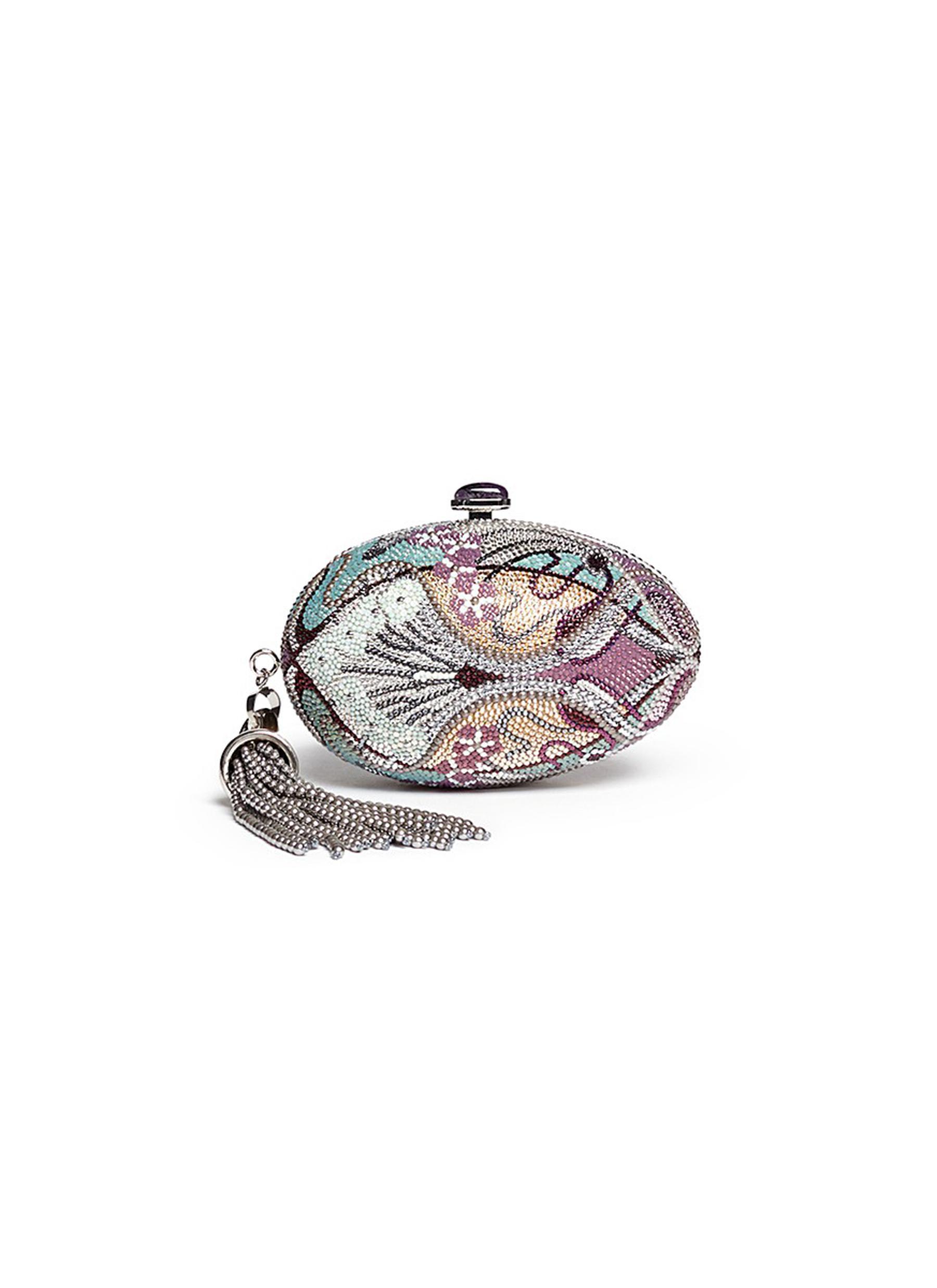 Egg Fantasia crystal pavé minaudière by Judith Leiber