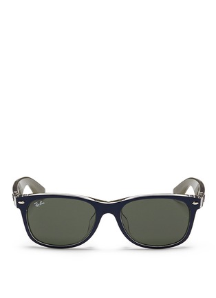 Main View - Click To Enlarge - Ray-Ban - 'New Wayfarer Colour Mix' matte plastic sunglasses