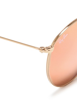 Detail View - Click To Enlarge - Ray-Ban - 'RB3532' folding round metal mirror sunglasses