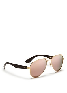 RAY-BAN 'RB3523' metal aviator mirror classes