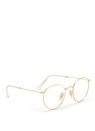 Figure View - Click To Enlarge - Ray-Ban - 'RB3532' round metal folding optical glasses