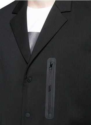 Detail View - Click To Enlarge - Dsquared2 - Notch lapel technowool front nylon blazer