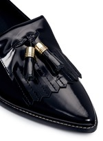 'Metaltass' patent leather kiltie loafers